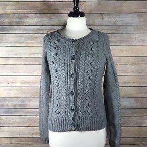 Aerie Wool Blend Cable Knit Sweater Medium I19